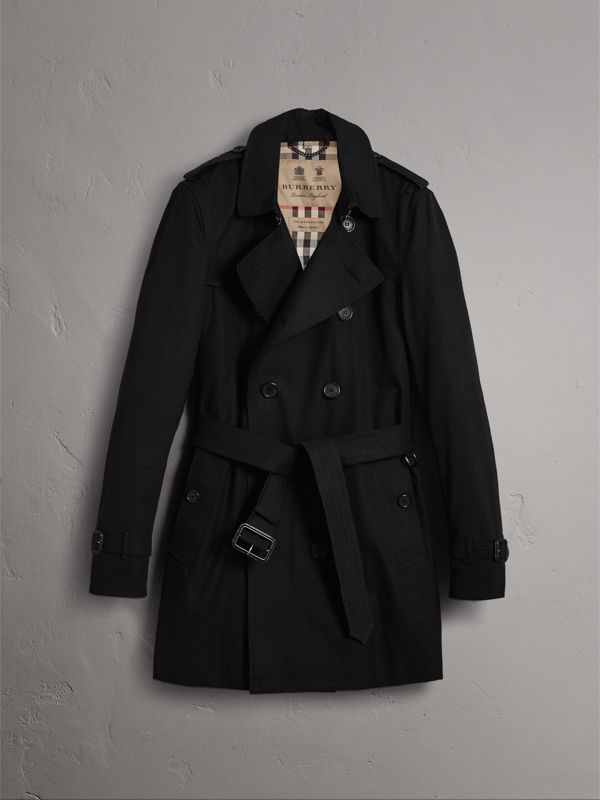 The Kensington – Mid-length Trench Coat in Black - Men | Burberry United States - cell image 3