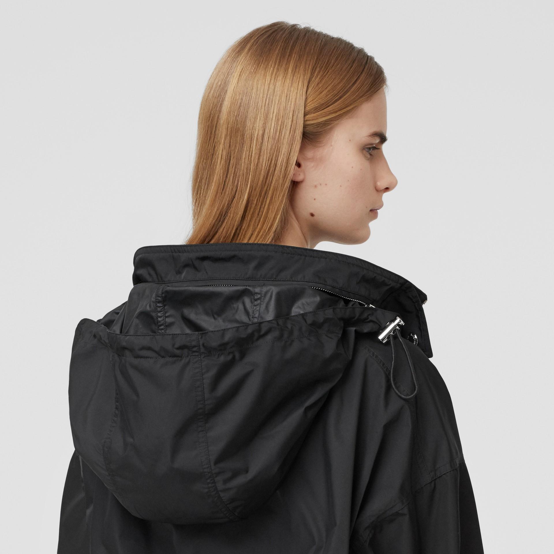 Packaway Hood Bio-based Nylon Jacket in Black - Women | Burberry - gallery image 4