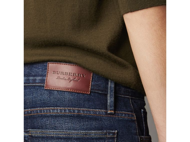 Straight Fit Brushed Denim Jeans - Men | Burberry - cell image 1