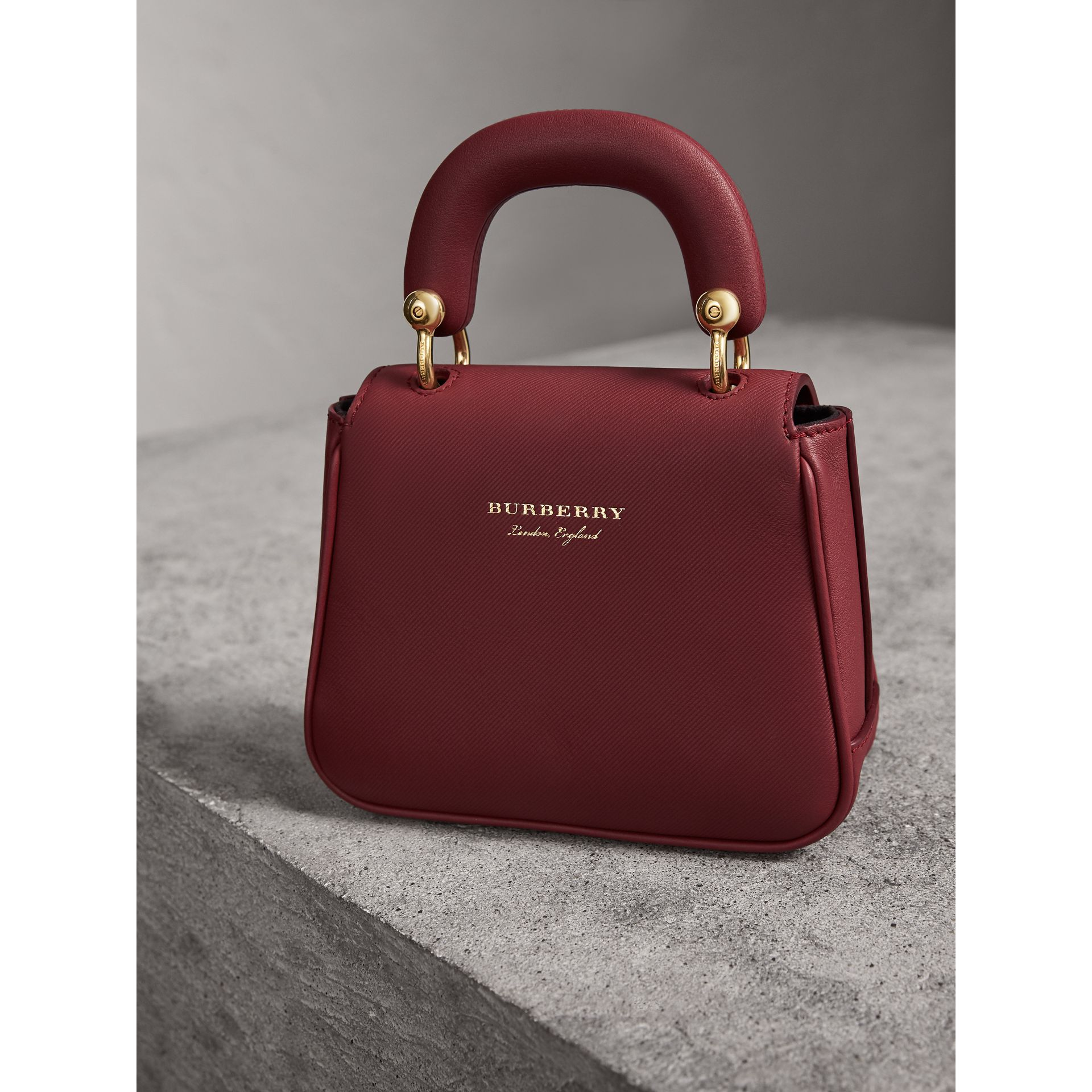 The Mini DK88 Top Handle Bag in Antique Red - Women | Burberry United Kingdom - gallery image 3