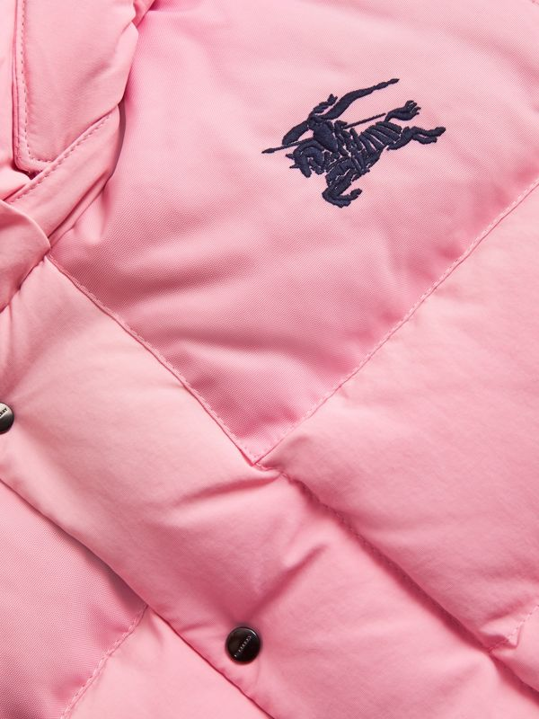 Detachable Hood Down-filled Puffer Jacket in Ice Pink | Burberry - cell image 3
