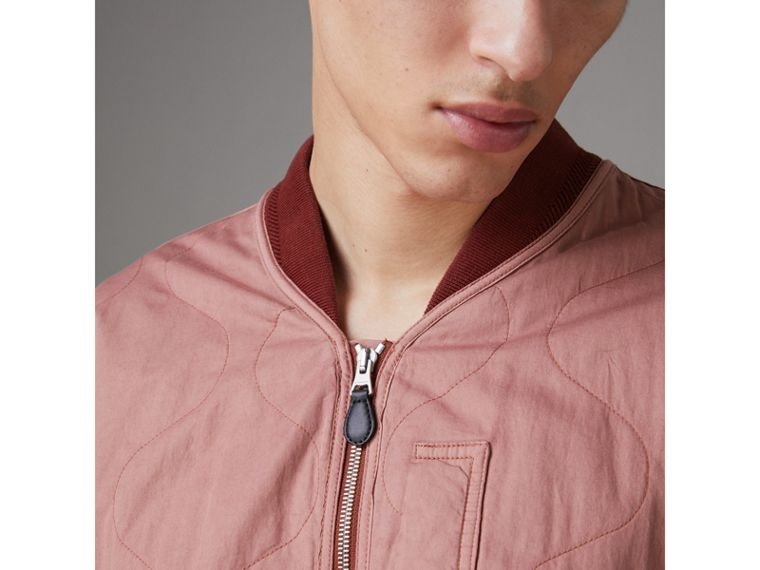 Lightweight Quilted Cotton Bomber Jacket in Rosewood - Men | Burberry Australia - cell image 1