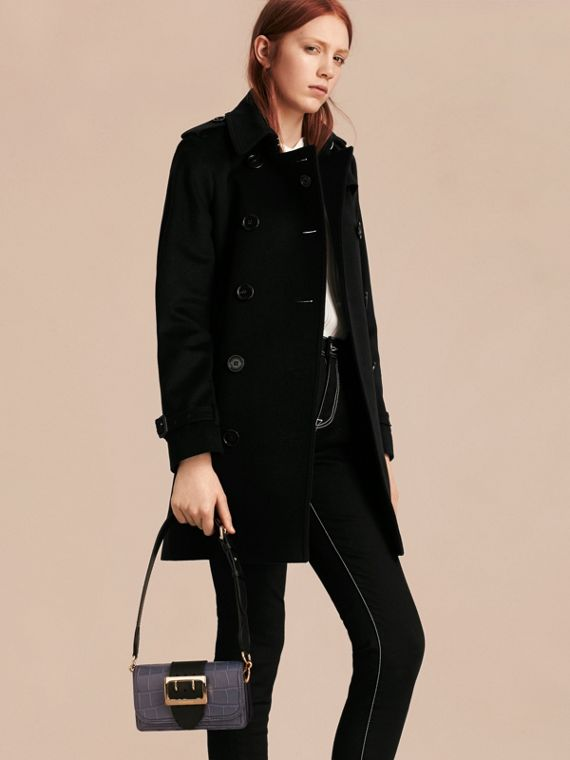 Petit sac The Buckle en alligator et cuir (Marine/noir) - Femme | Burberry - cell image 2