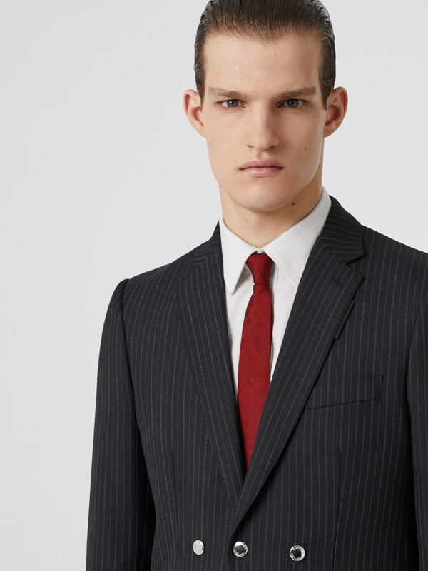 Classic Cut Check Silk Jacquard Tie in Deep Red - Men | Burberry - cell image 2