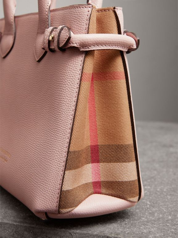 The Small Banner aus Leder und House Check-Gewebe (Helles Orchideenfarben) - Damen | Burberry - cell image 1