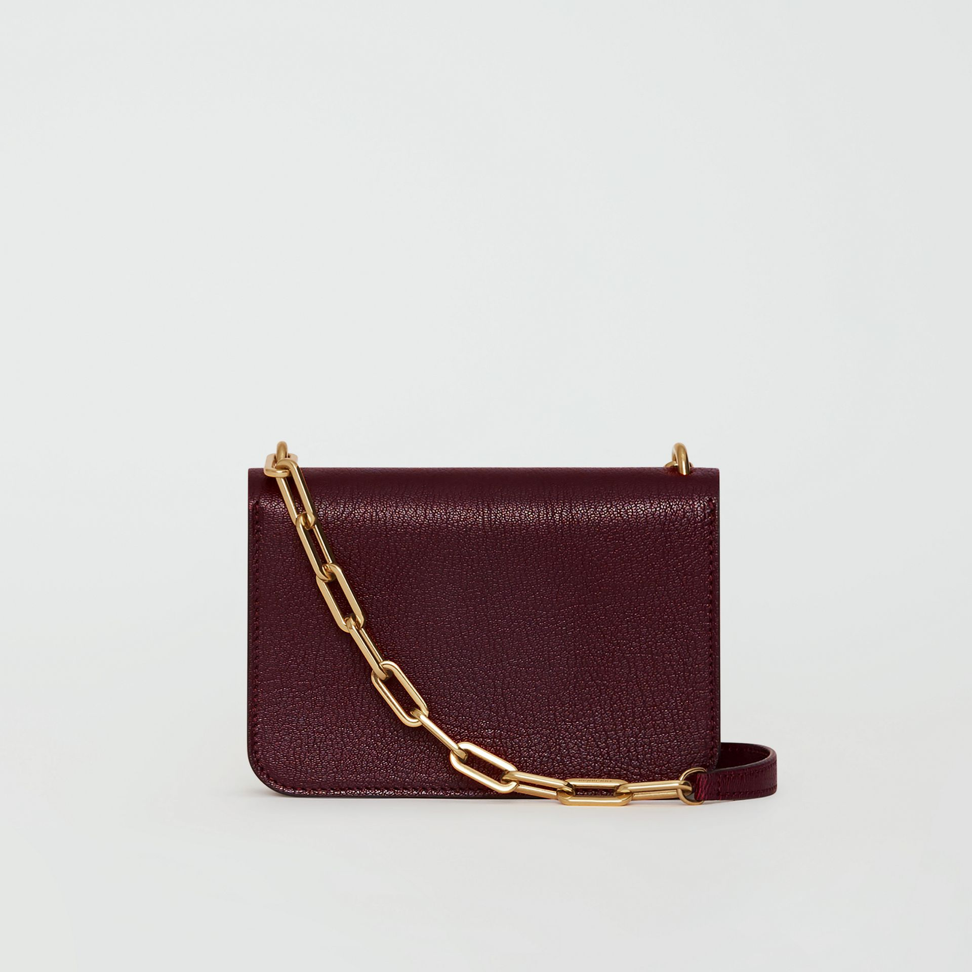 The Mini Leather Crystal D-ring Bag in Deep Claret - Women | Burberry United Kingdom - gallery image 5