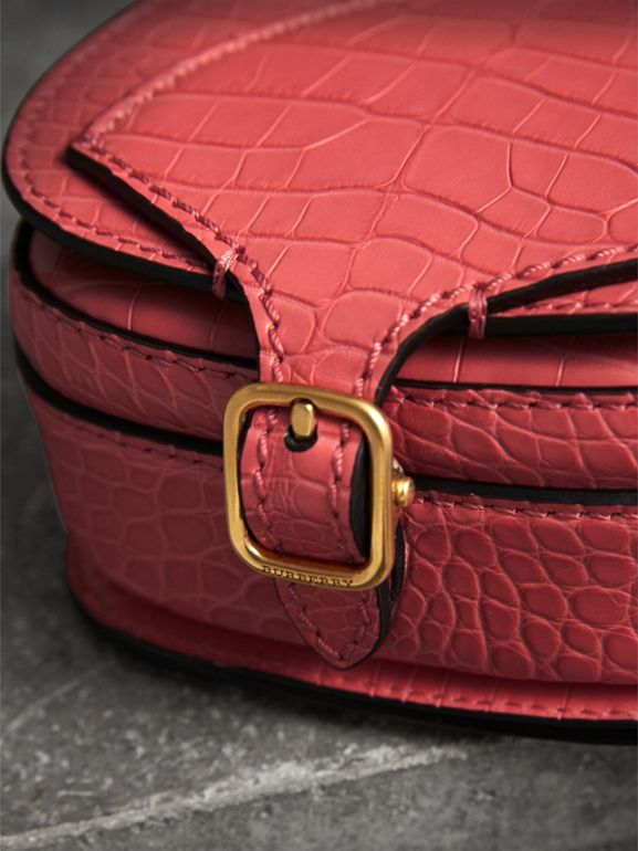The Pocket Satchel in Alligator in Pink Azalea | Burberry - cell image 1