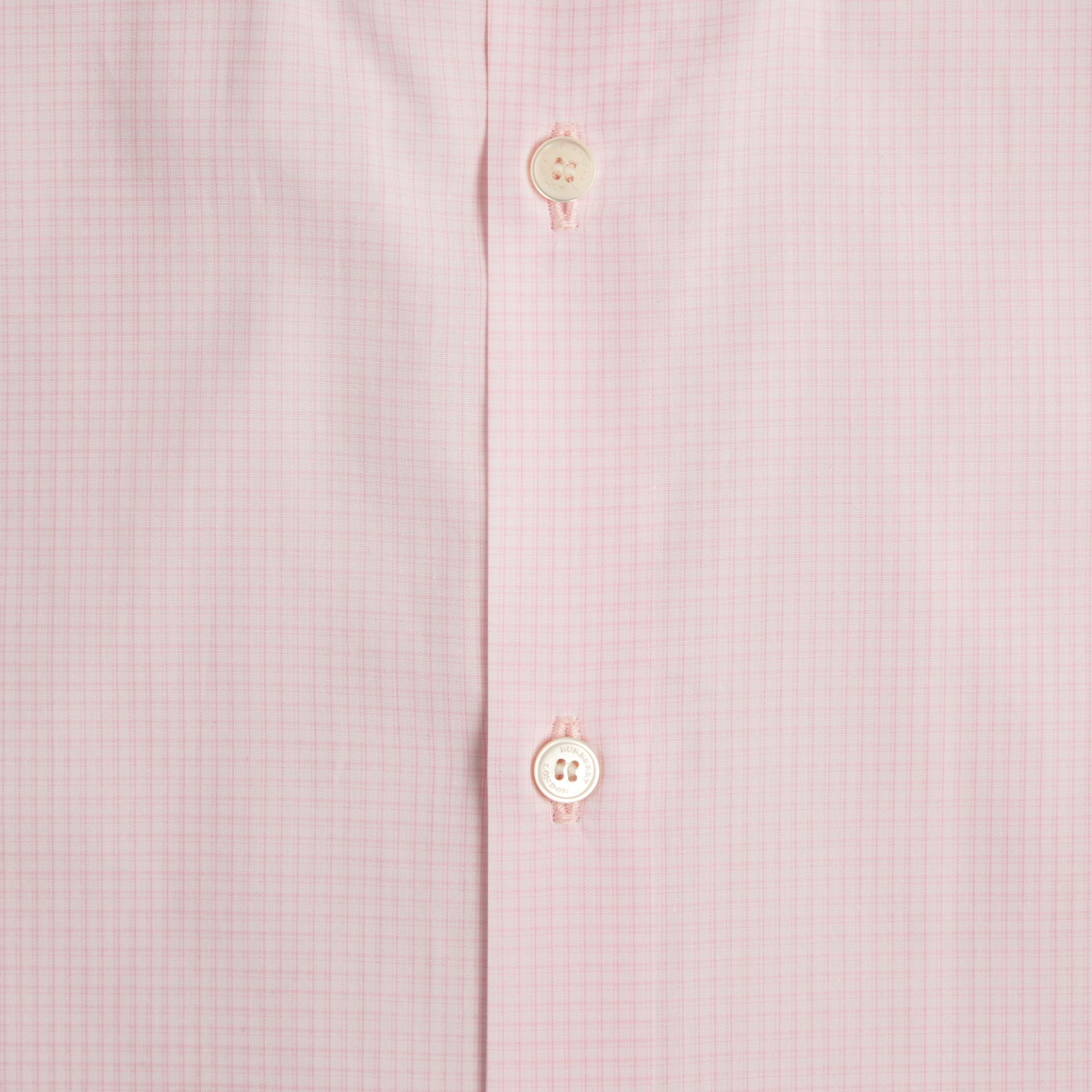 City pink Modern Fit Button-down Collar Micro Check Cotton Shirt - gallery image 2