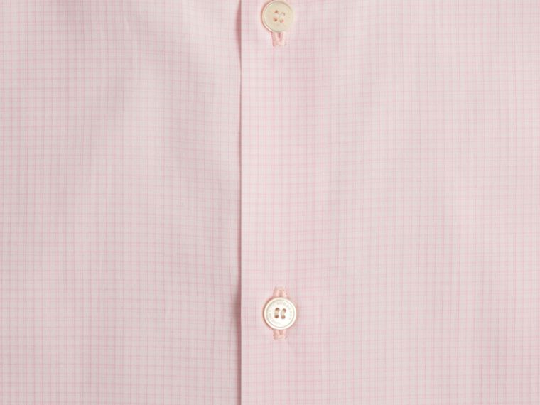 Modern Fit Button-down Collar Micro Check Cotton Shirt City Pink - cell image 1