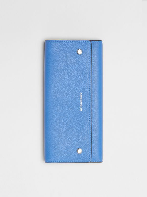Leather Continental Wallet in Hydrangea Blue - Women | Burberry Australia - cell image 3