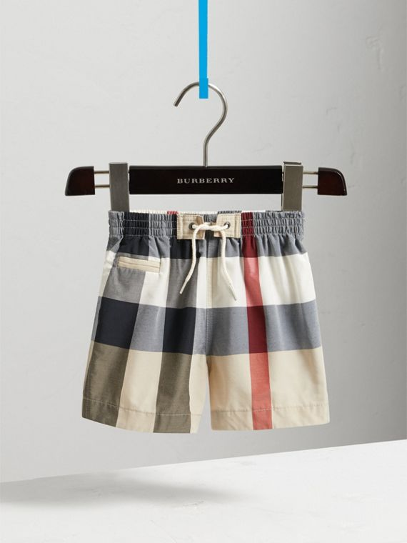 Check Technical Cotton Swim Shorts in New Classic | Burberry - cell image 2