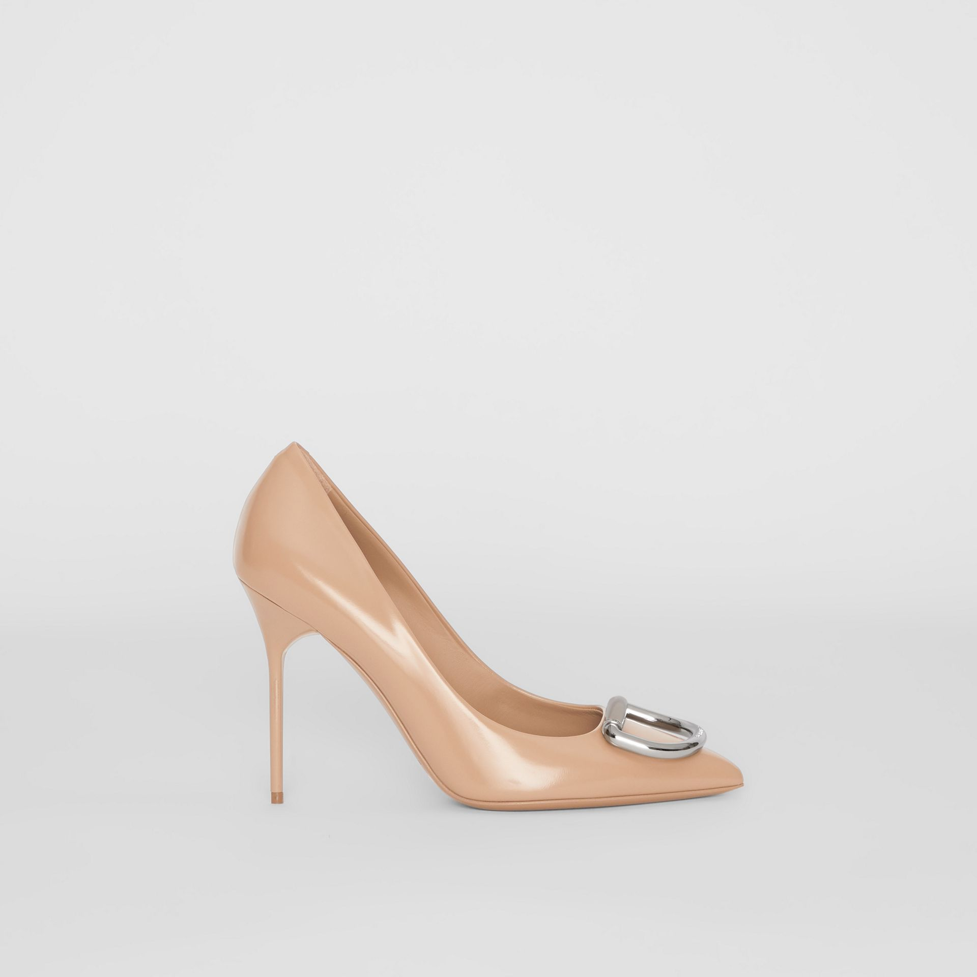 The Leather D-ring Stiletto in Nude Blush - Women | Burberry Canada - gallery image 5