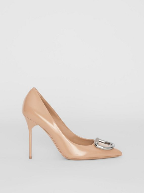 Escarpins The D-ring en cuir (Rouge Nude)