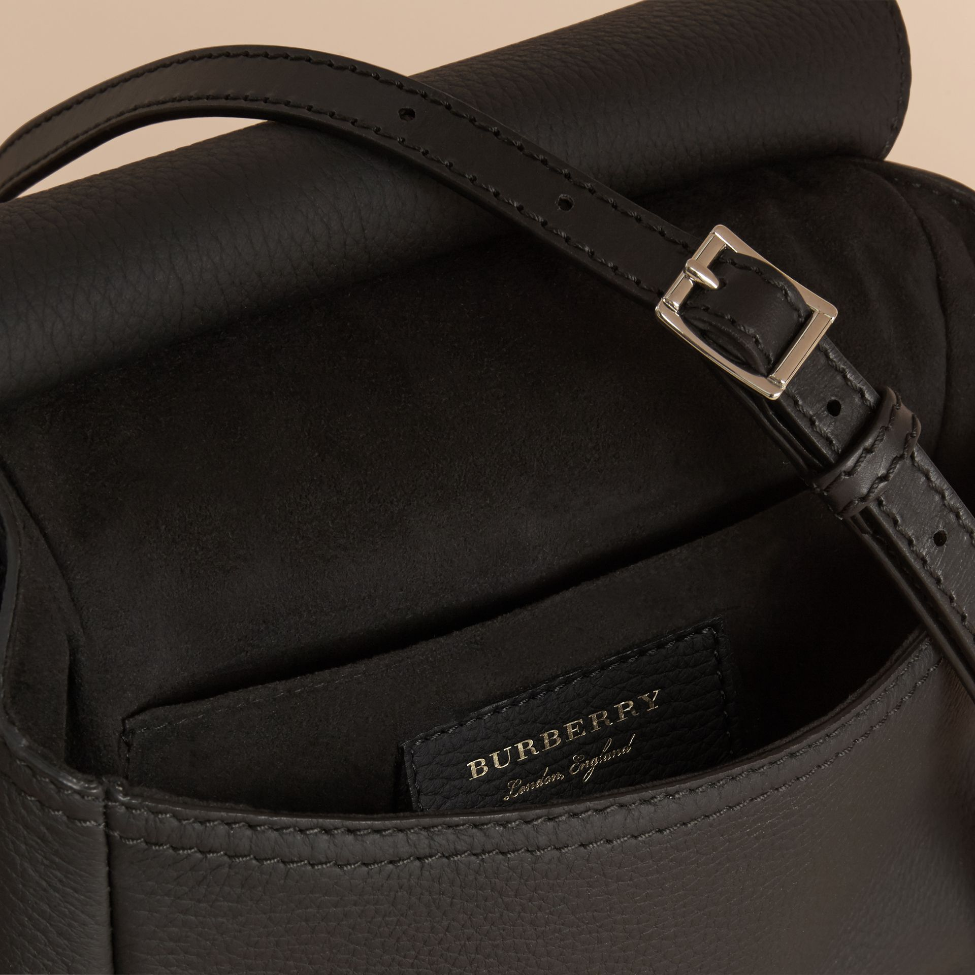 The Bridle Bag in Deerskin in Black - Women | Burberry - gallery image 6