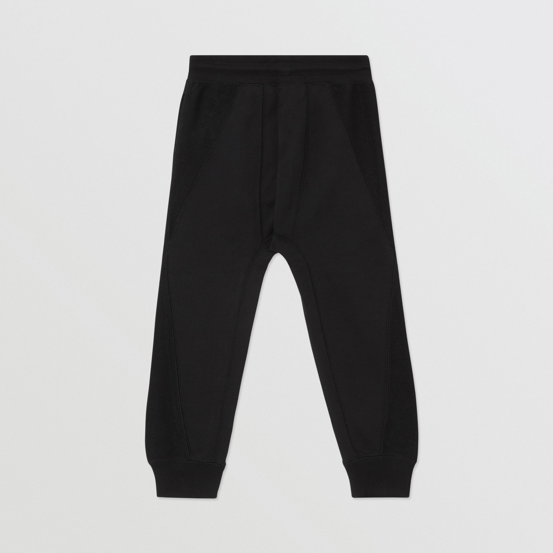Logo Graphic Cotton Trackpants in Black | Burberry - gallery image 3