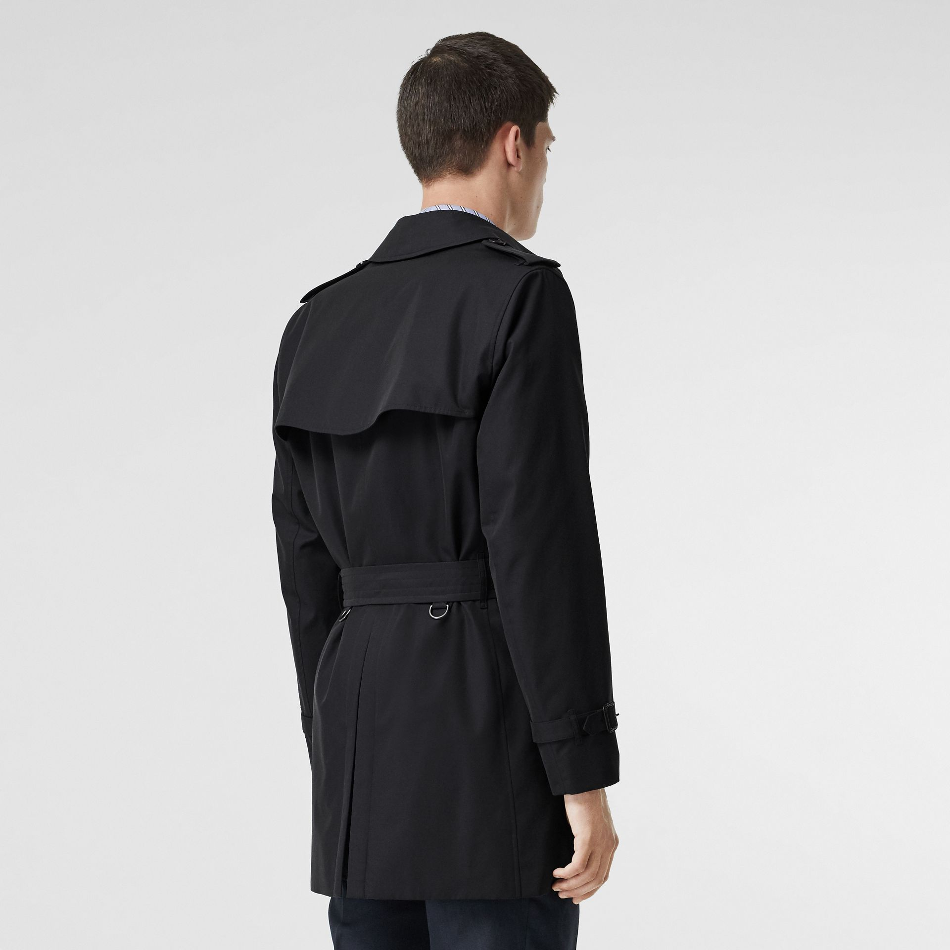 Cotton Gabardine Trench Coat in Midnight Navy - Men | Burberry United Kingdom - gallery image 2
