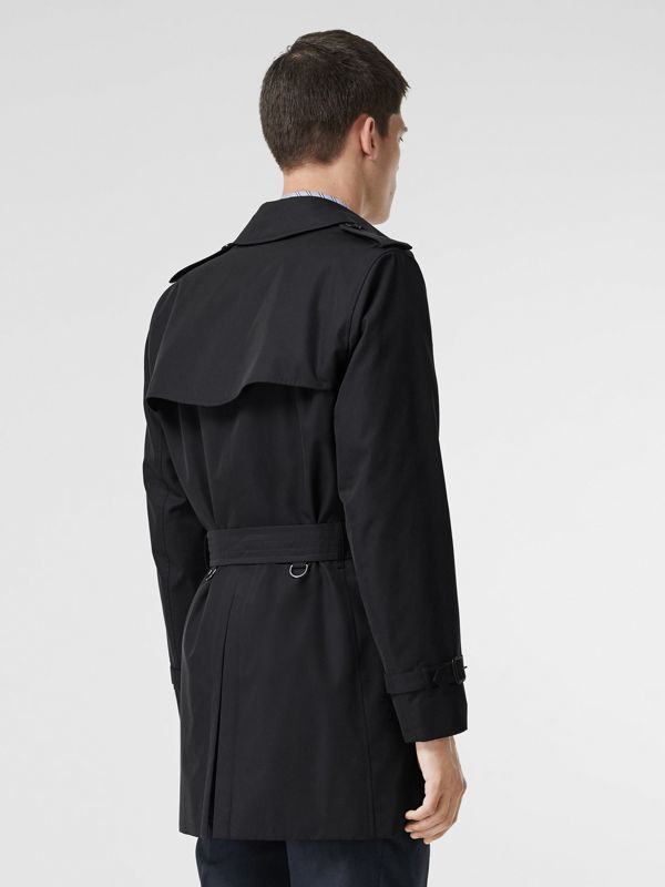 Cotton Gabardine Trench Coat in Midnight Navy - Men | Burberry United Kingdom - cell image 2