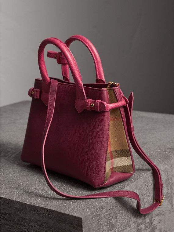 The Small Banner in Two-tone Leather - Women | Burberry Australia - cell image 2
