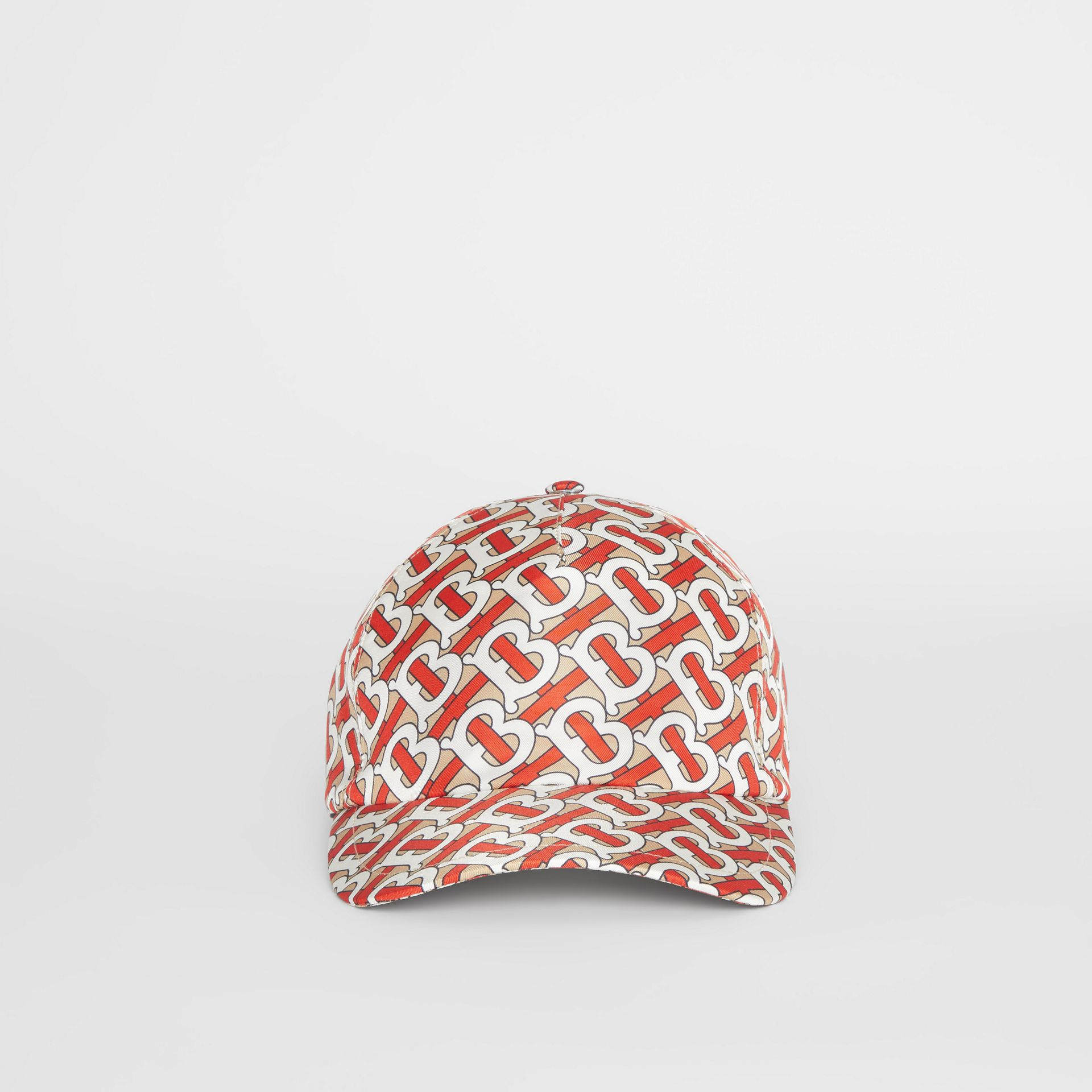 Monogram Print Baseball Cap in Vermillion - Women | Burberry - gallery image 2