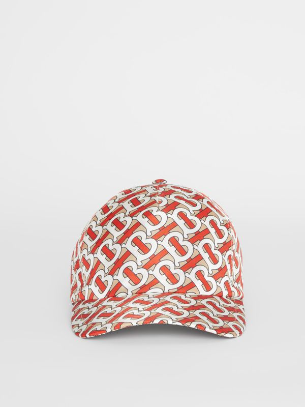 Monogram Print Baseball Cap in Vermillion - Women | Burberry - cell image 2