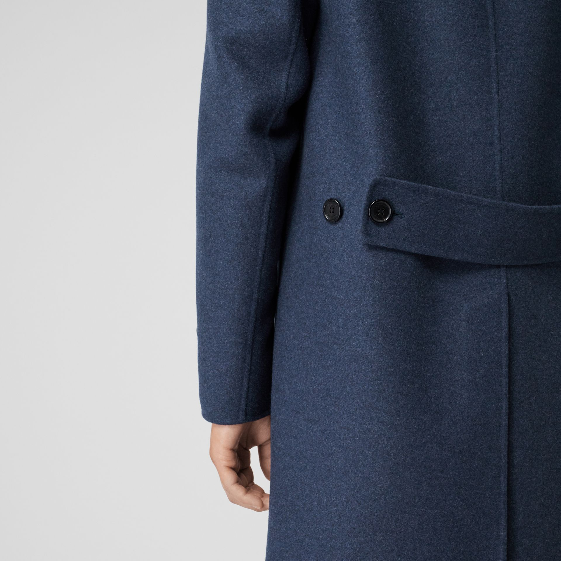 Wool Cashmere Lab Coat in Steel Blue Melange - Men | Burberry United Kingdom - gallery image 5