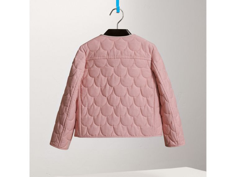 Collarless Scallop-quilted Jacket in Pale Rose - Girl | Burberry United States - cell image 2