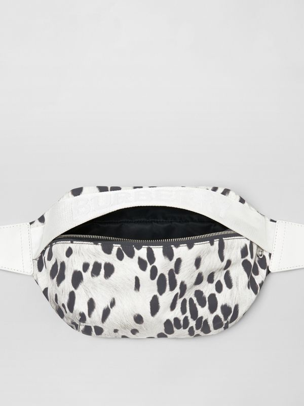 Medium Animal Print Nylon Bum Bag in Black | Burberry Australia - cell image 3