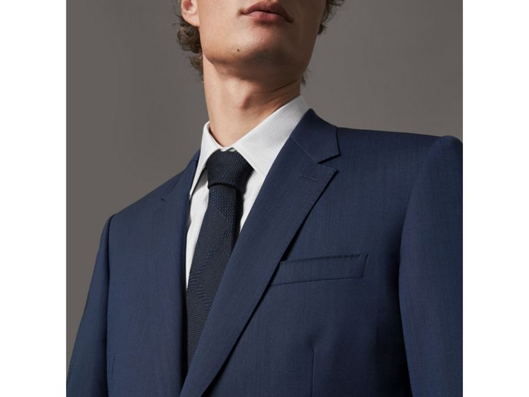 Modern Fit Stretch Wool Suit in Navy - Men | Burberry - cell image 4