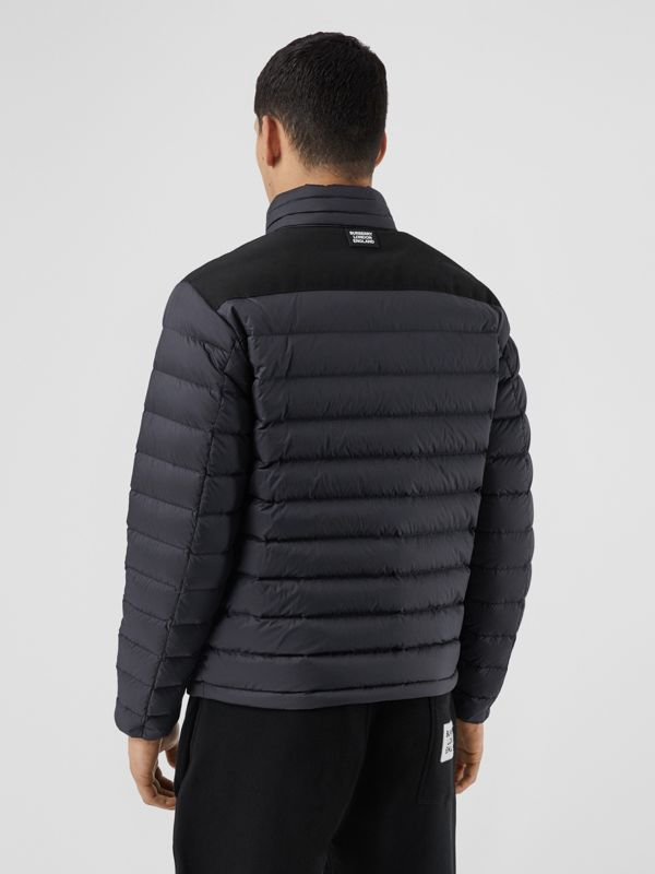 Logo Graphic Lightweight Puffer Jacket in Navy - Men | Burberry Singapore - cell image 2