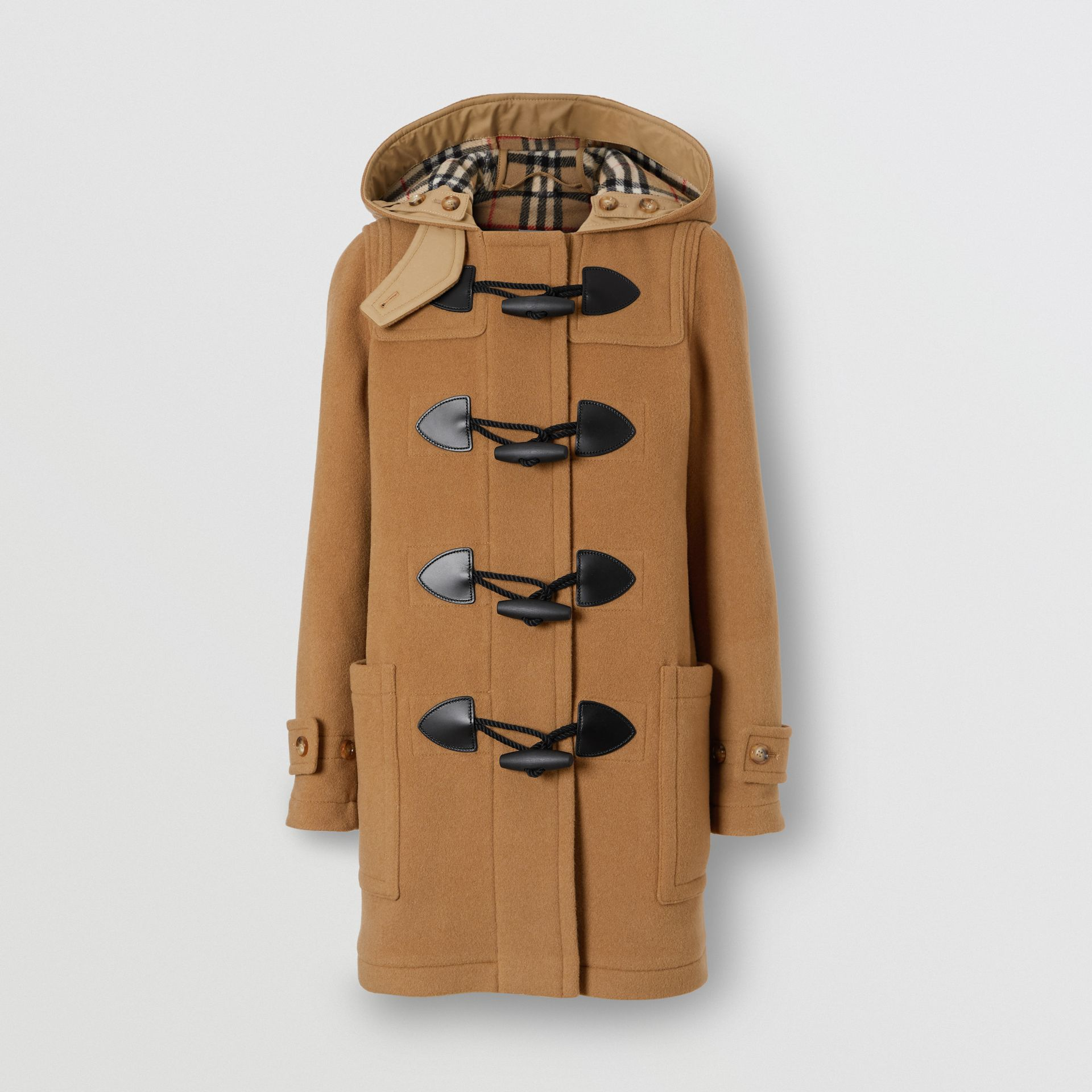 Wool Blend Duffle Coat in Mid Camel - Women | Burberry Australia - gallery image 2