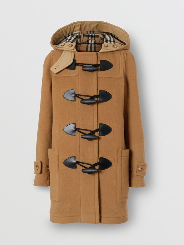 Wool Blend Duffle Coat in Mid Camel - Women | Burberry Australia - cell image 2