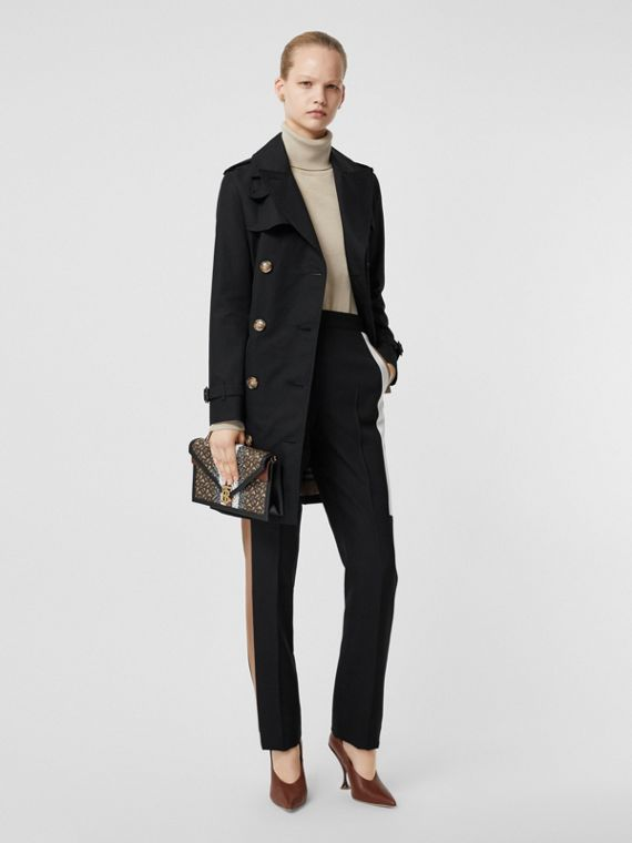 Trench coat Islington corto (Negro)