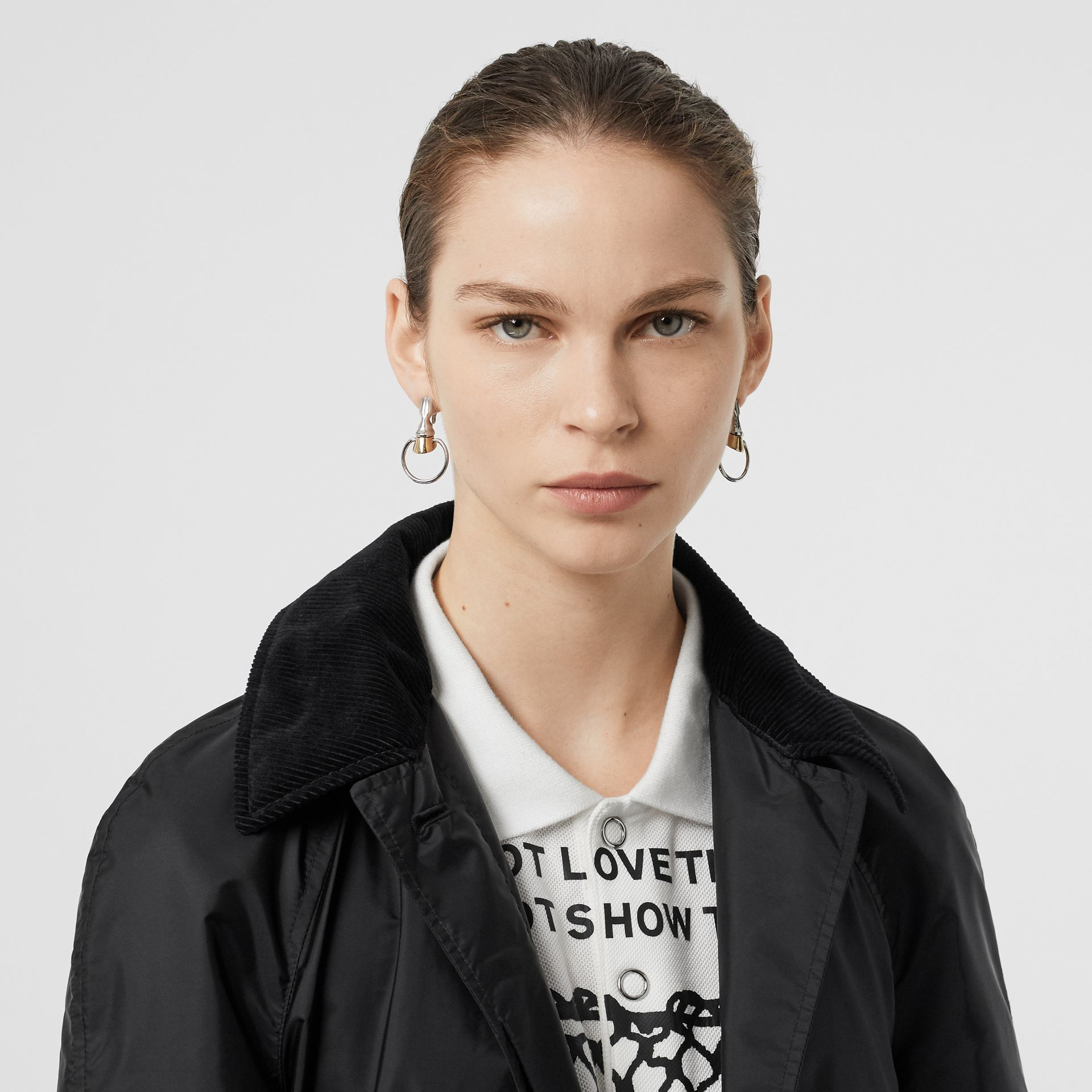 Detachable Hood Taffeta Parka in Black - Women | Burberry Australia - gallery image 1