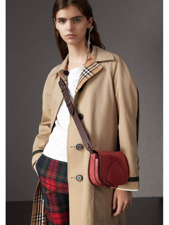 The Satchel in Lizard in Pink Azalea - Women | Burberry Singapore - cell image 3