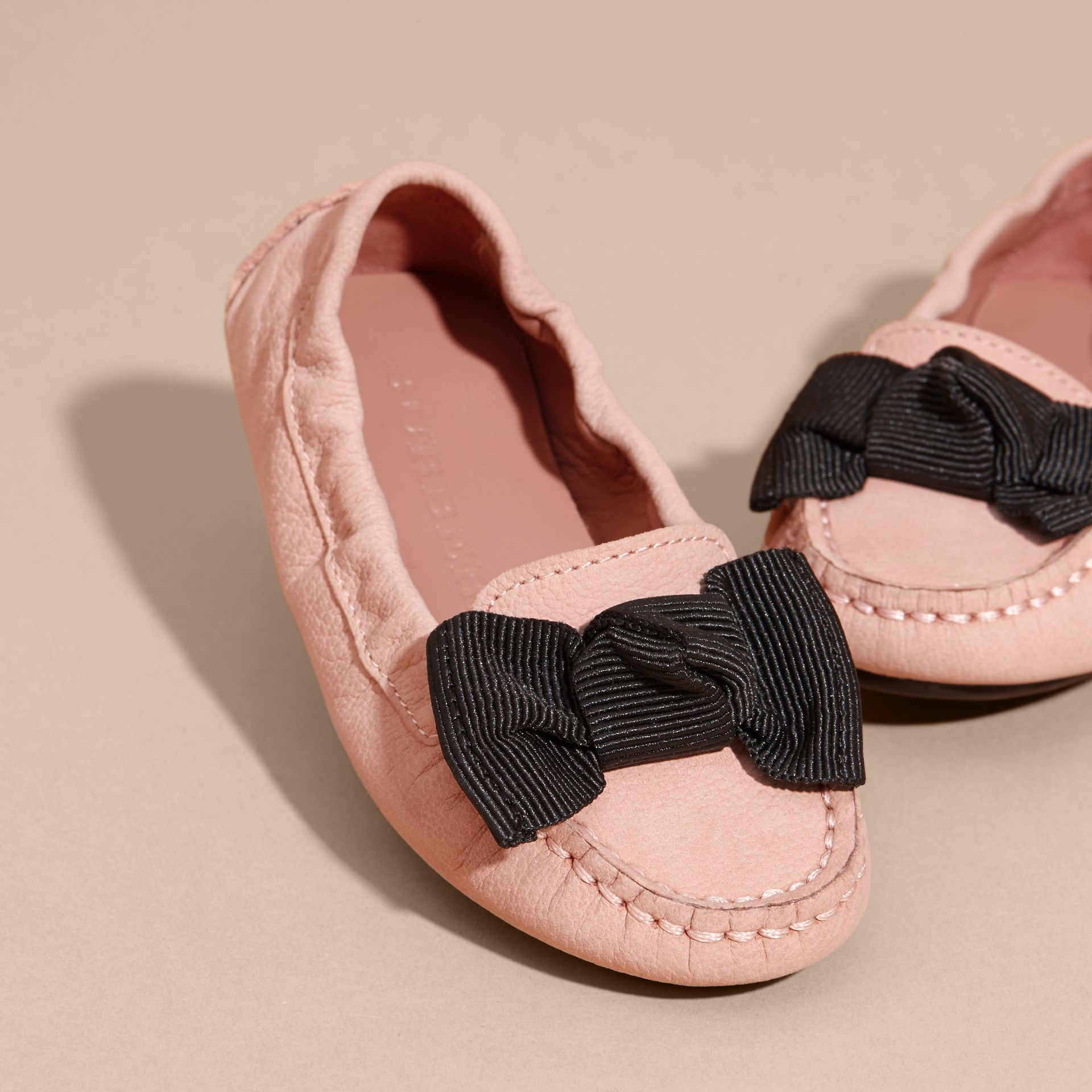 Ash rose Bow Detail Leather Loafers - gallery image 3