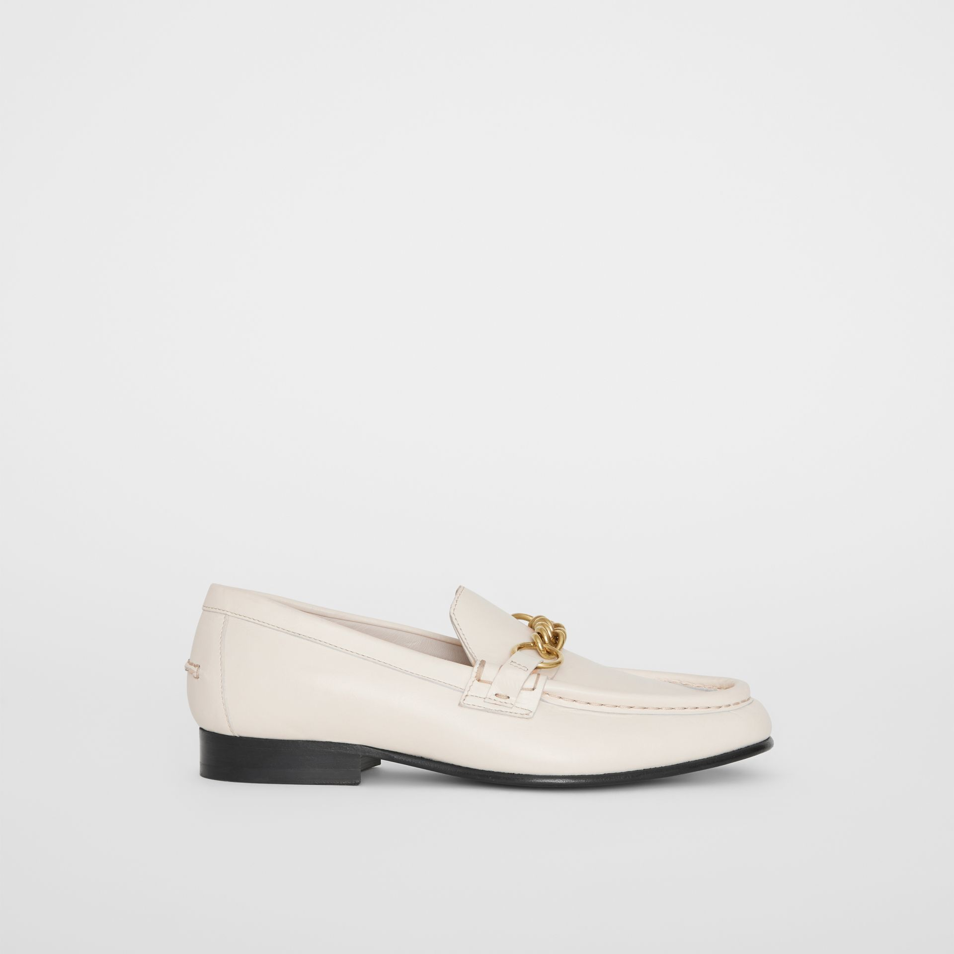 The Leather Link Loafer in Ash White - Women | Burberry - gallery image 5