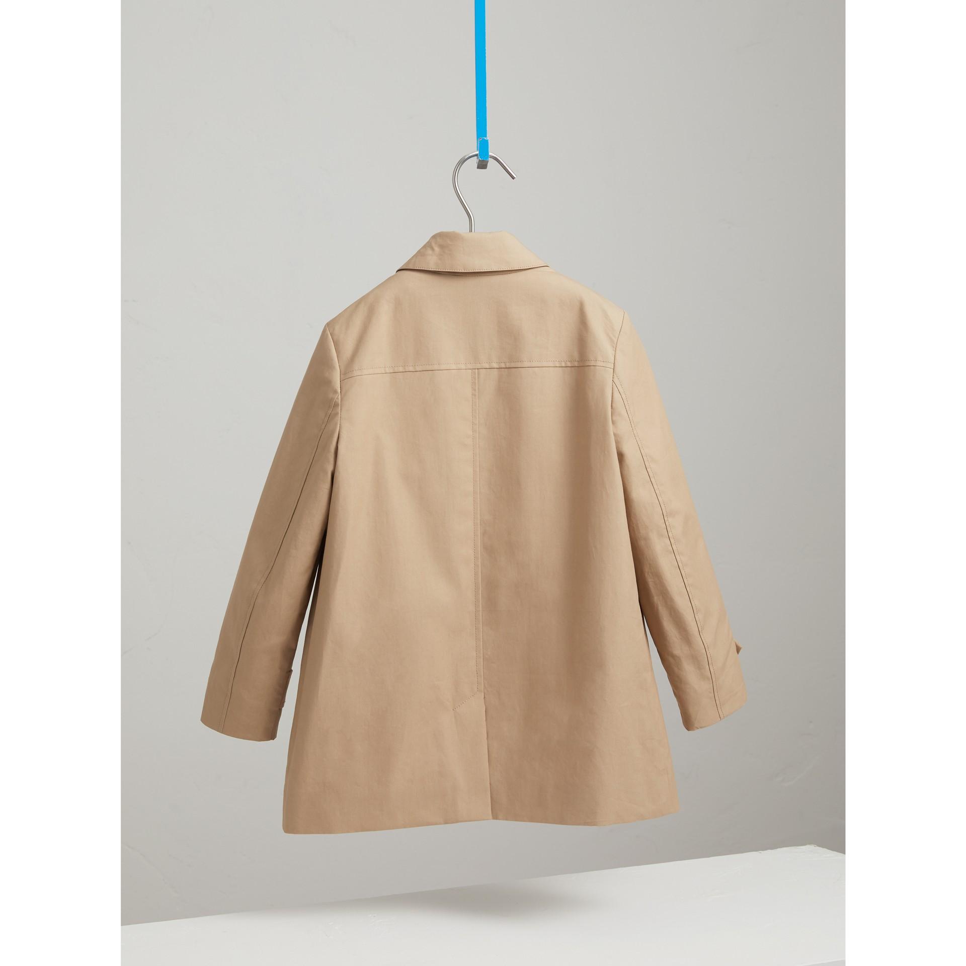 Mercerised Cotton Car Coat in Honey - Boy | Burberry United Kingdom - gallery image 4