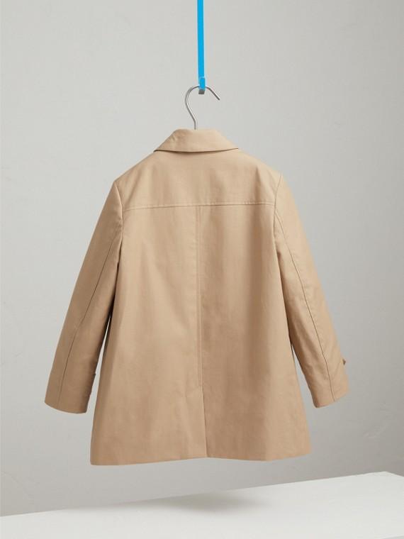 Mercerised Cotton Car Coat in Honey - Boy | Burberry United Kingdom - cell image 3