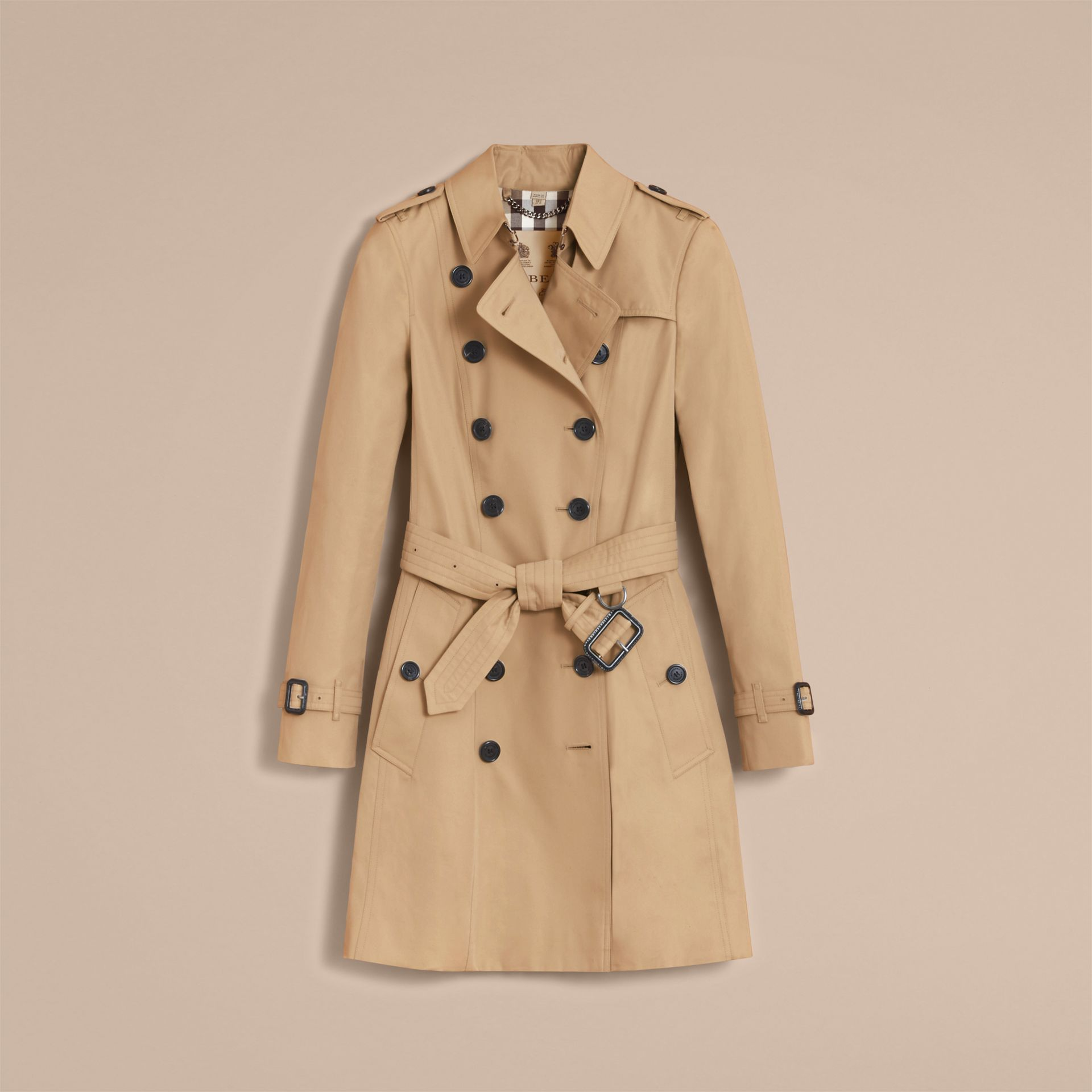 The Chelsea – Mid-length Heritage Trench Coat in Honey - gallery image 4