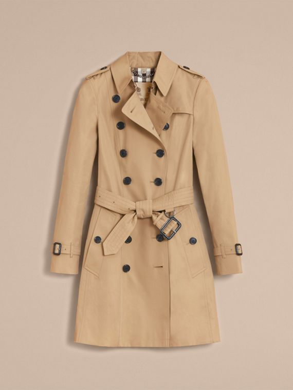 The Chelsea – Mid-length Heritage Trench Coat in Honey - Women | Burberry - cell image 3