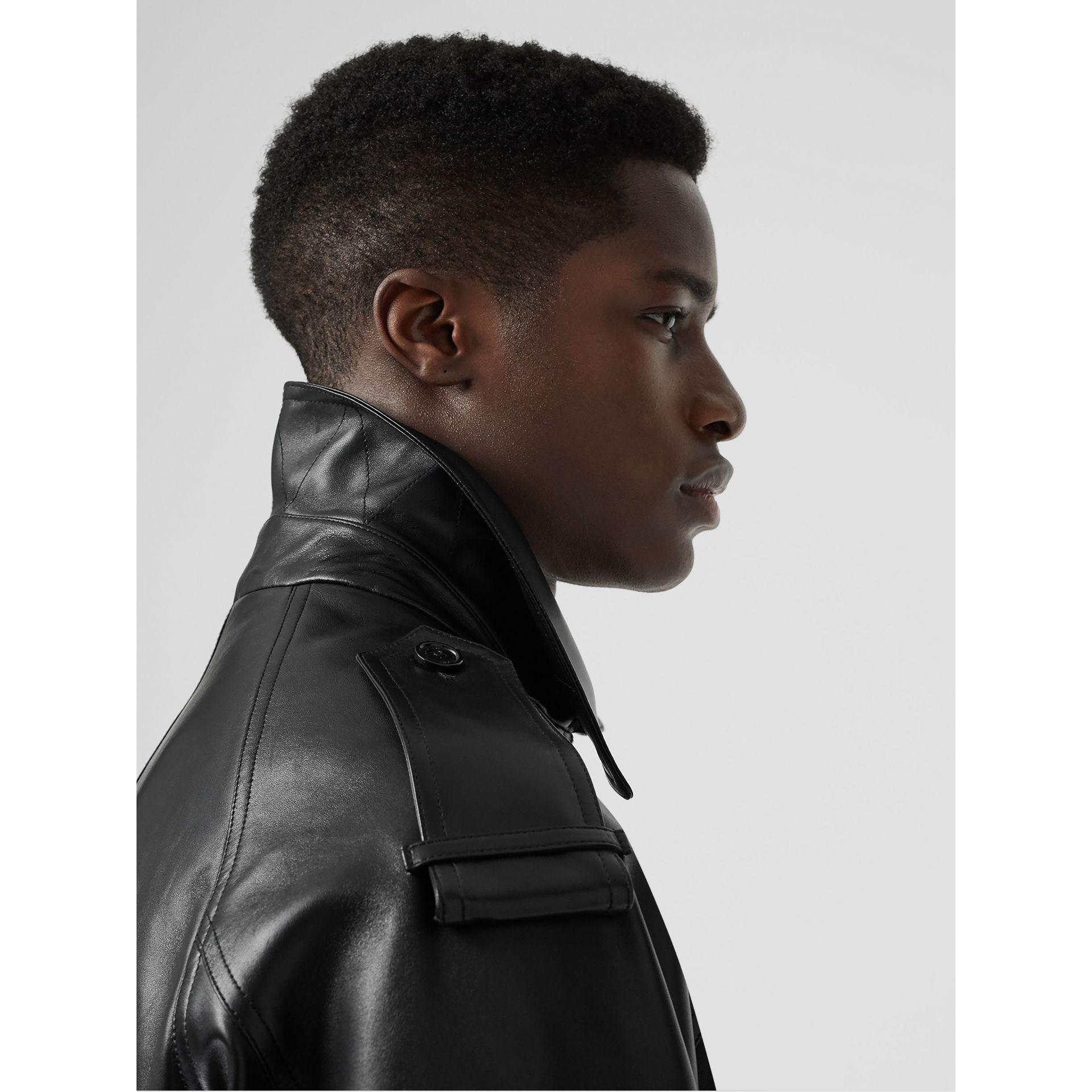 Lambskin Bomber Jacket in Black - Men | Burberry Singapore - gallery image 4
