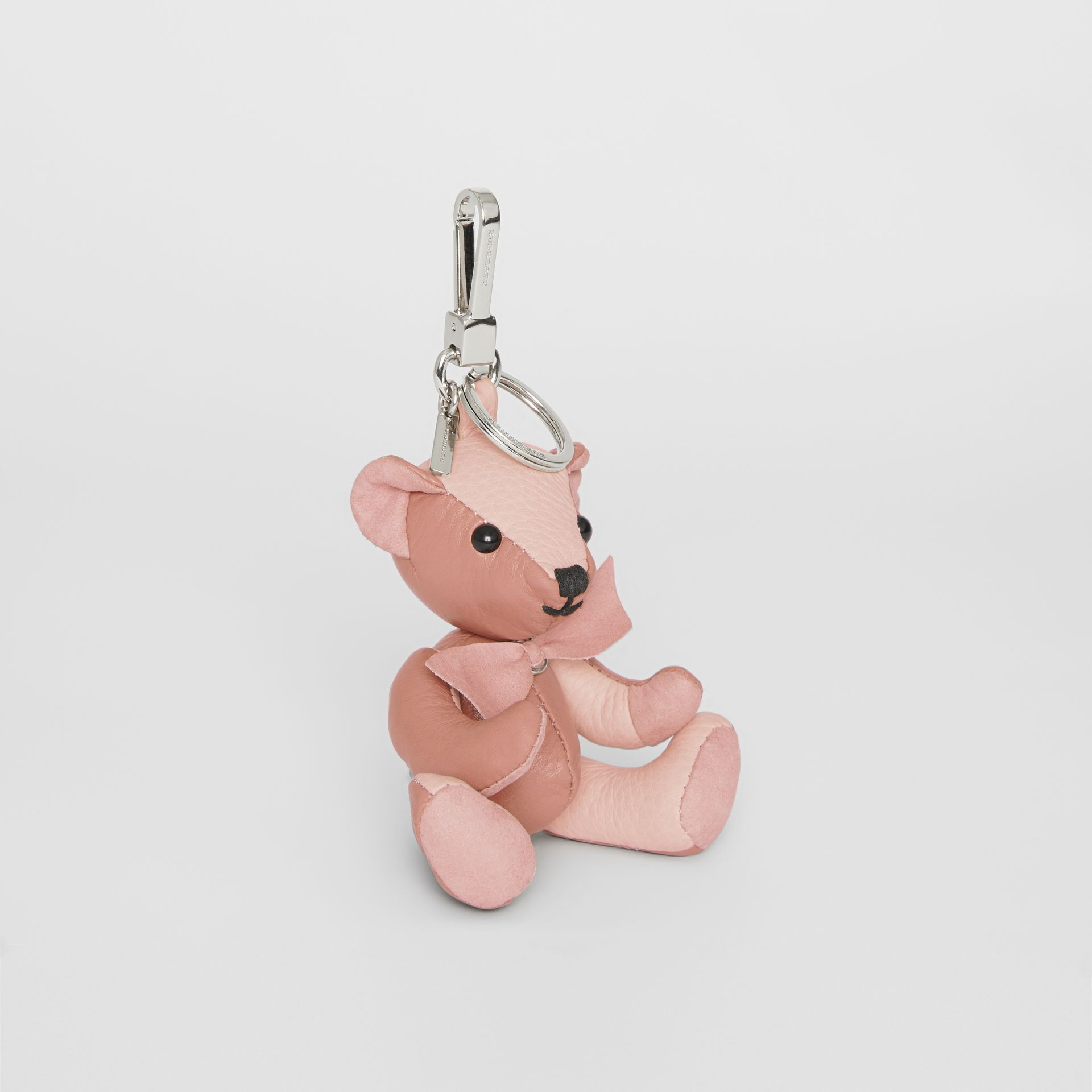 Thomas Bear Charm in Leather in Copper Pink/chalk Pink - Women | Burberry - gallery image 0