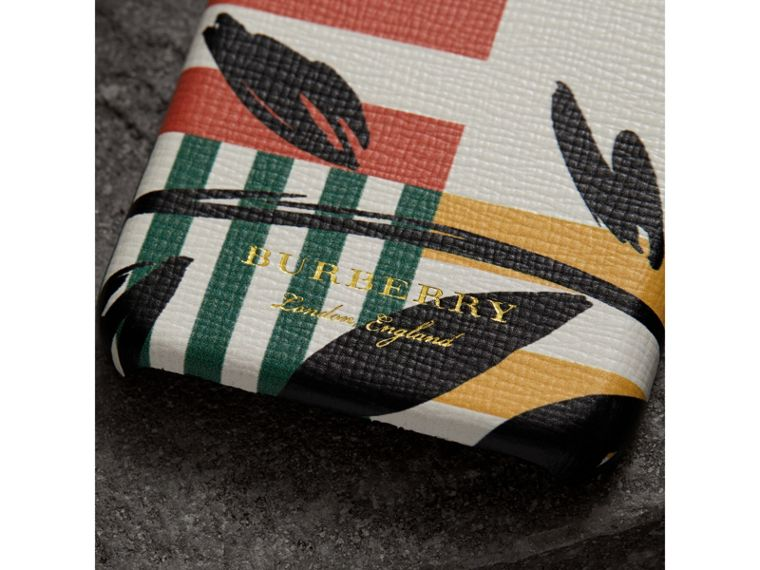 Floral Stripe Print Leather iPhone 8 Case in Patchwork | Burberry Hong Kong - cell image 1