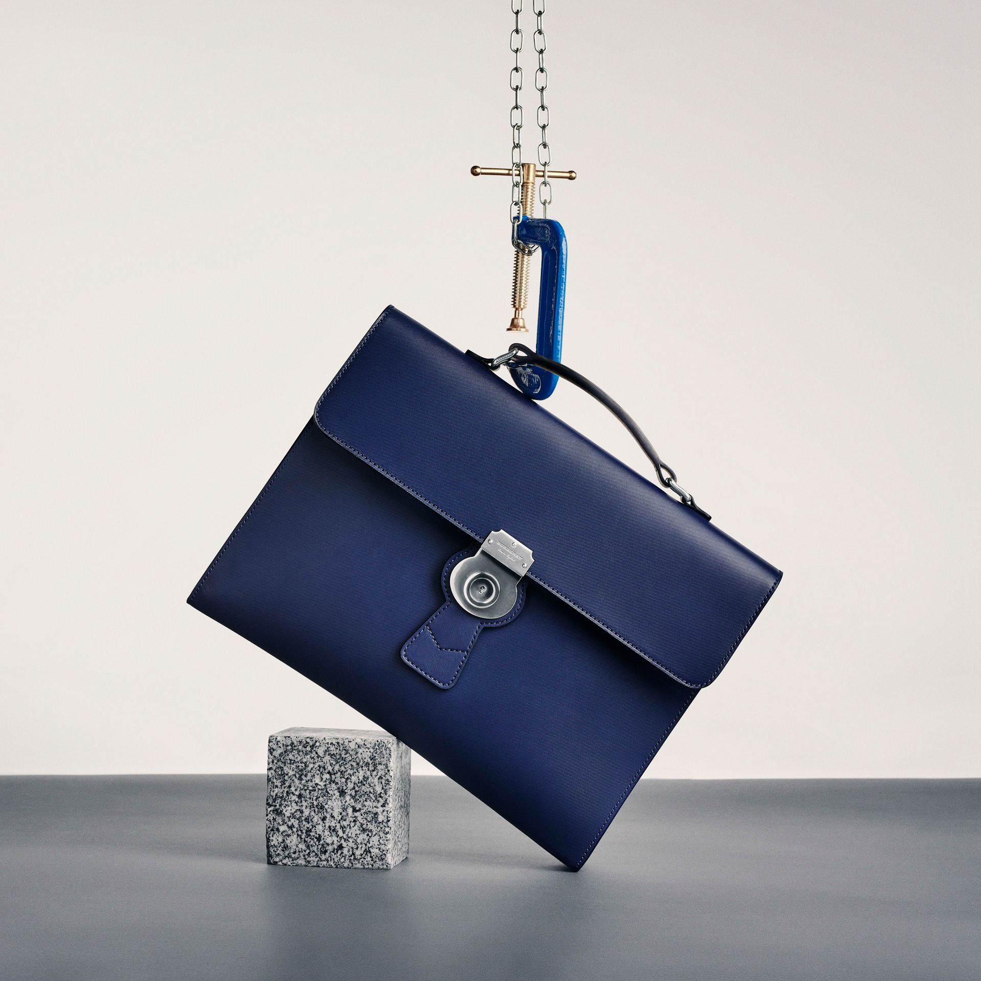The Large DK88 Document Case in Ink Blue - Men | Burberry - gallery image 6