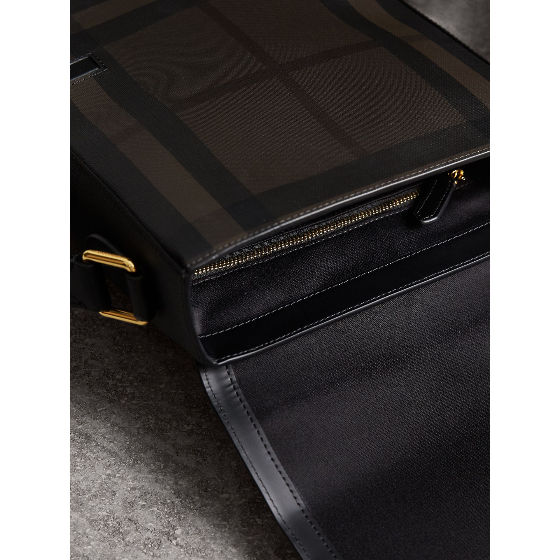 London Check Crossbody Bag in Chocolate/black - Men | Burberry Singapore - gallery image 5