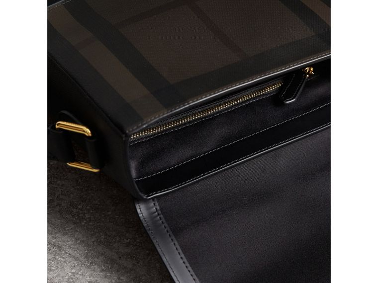 London Check Crossbody Bag in Chocolate/black - Men | Burberry Singapore - cell image 4