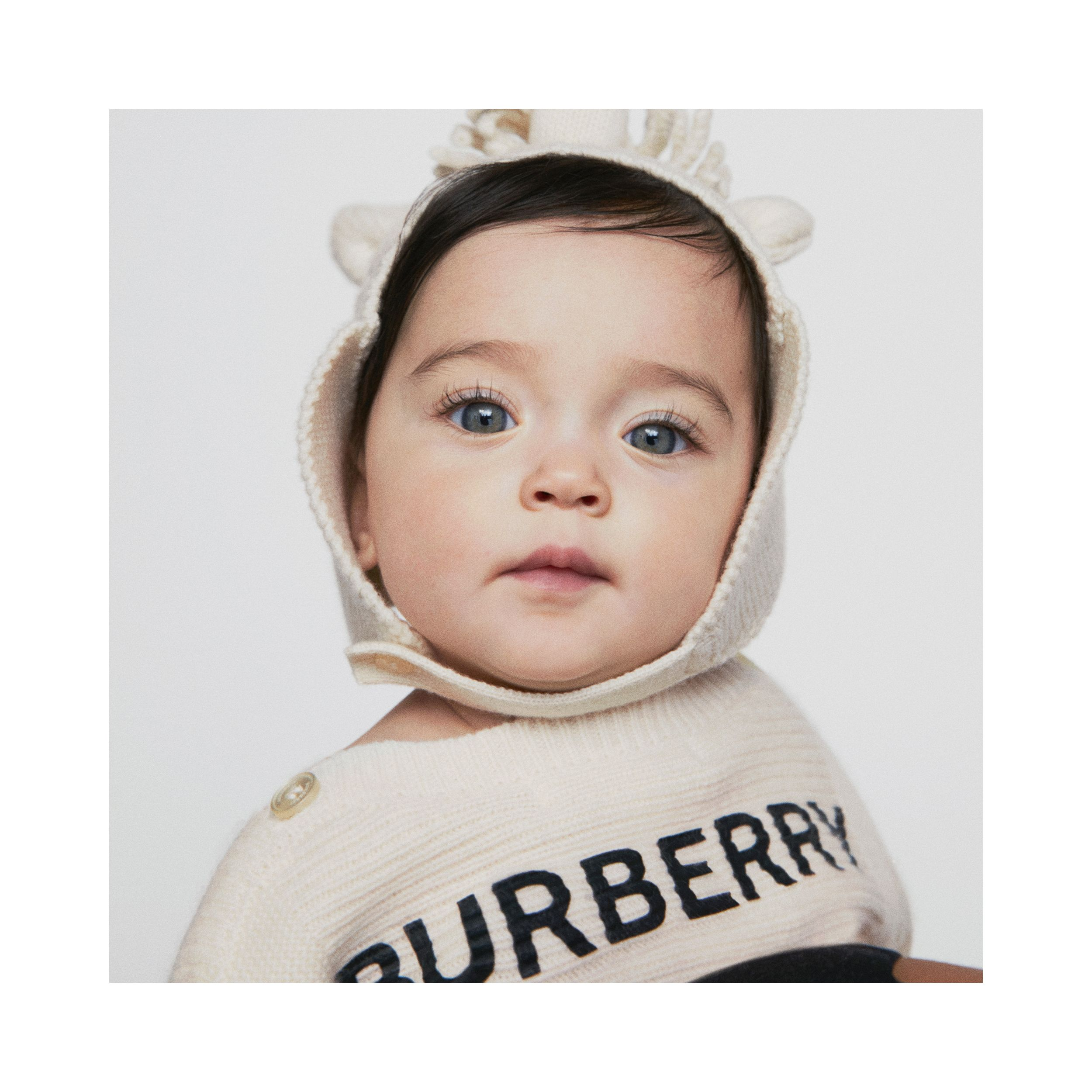 Logo Print Wool Cashmere Six-piece Baby Gift Set in Ivory | Burberry - 2