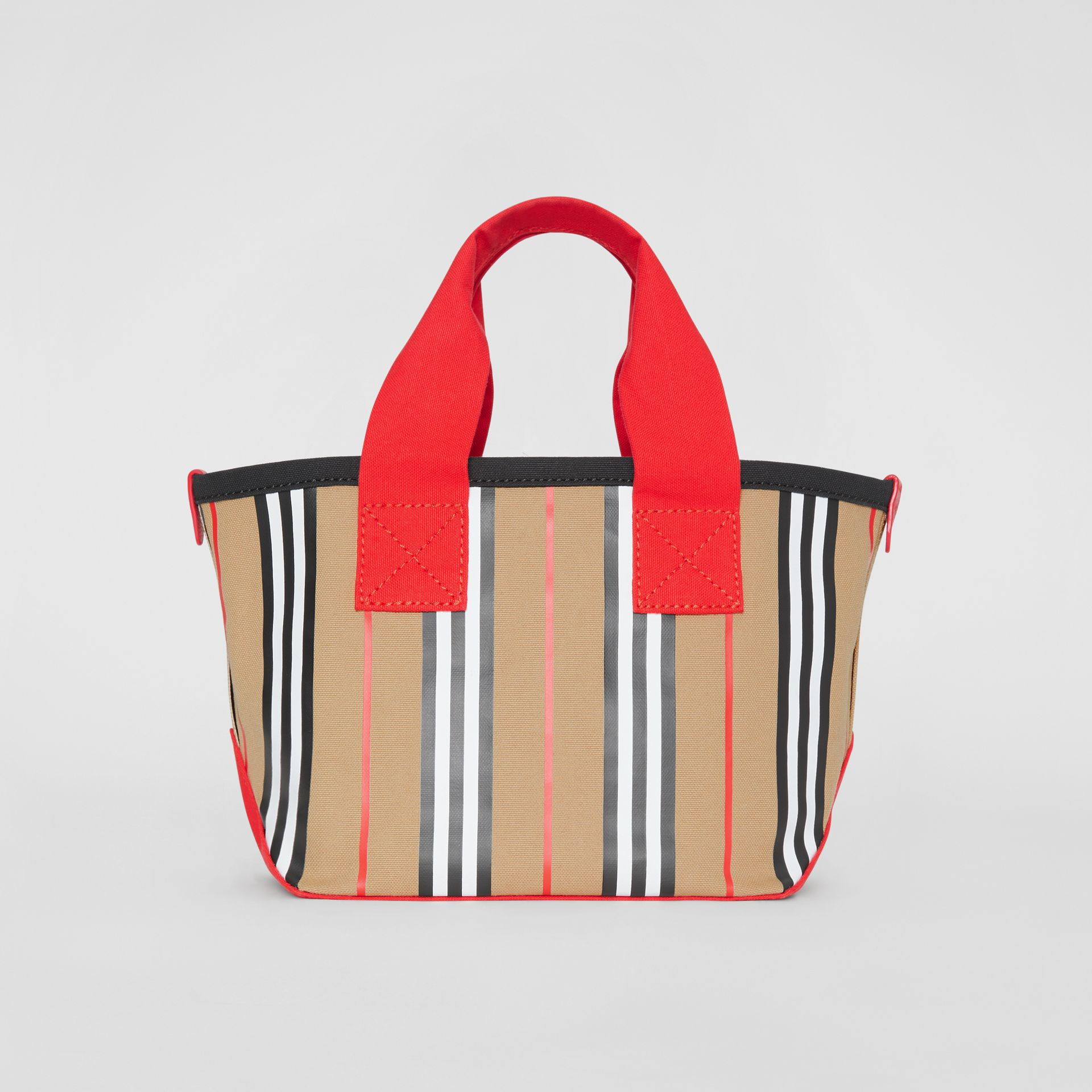 Icon Stripe Cotton Tote Bag in Honey - Children | Burberry - gallery image 5