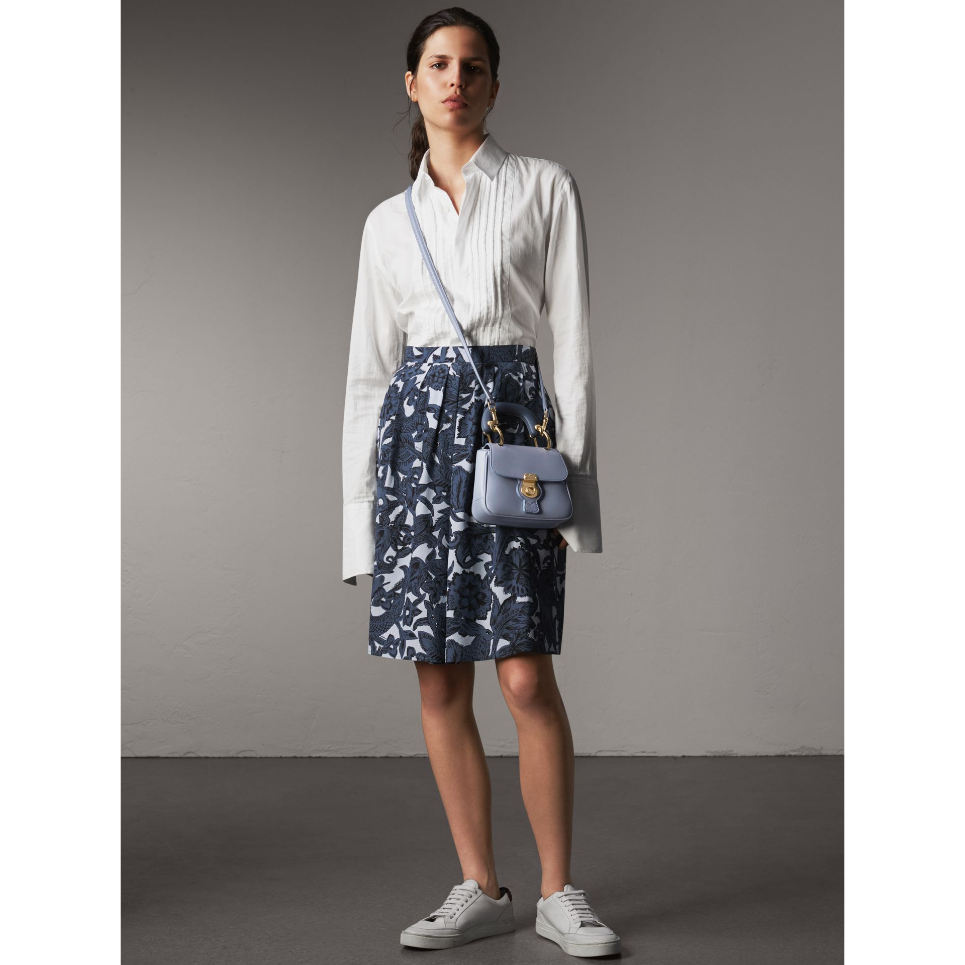 The Mini DK88 Top Handle Bag in Slate Blue - Women | Burberry - gallery image 3