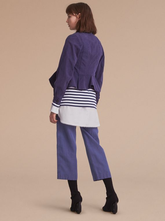 Draped Cotton Utility Jacket - cell image 2
